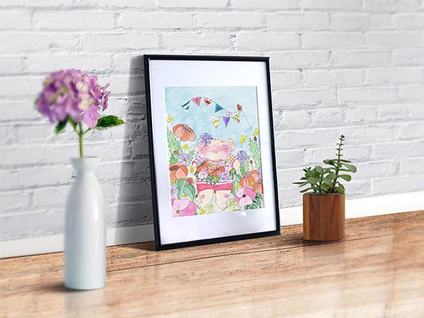 иллюстрация картина акварель