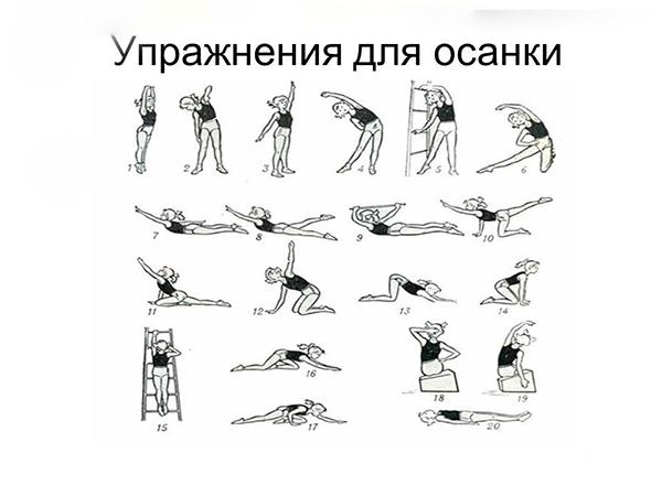 Упражнения для исправления осанки