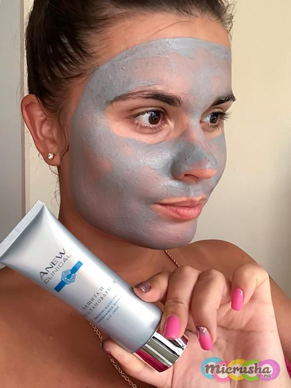 Антиоксидантная очищающая маска для лица Anew «Защита и восстановление»