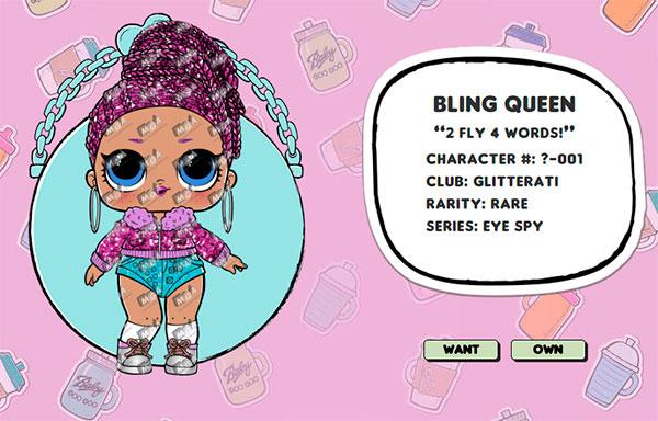 Bling Queen куклы lol декодер капсула