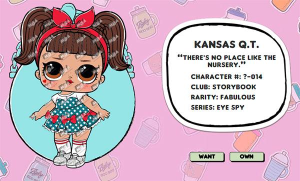 Kansas Q.T. куклы lol