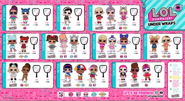 Имена всех кукол ЛОЛ 4 серии
