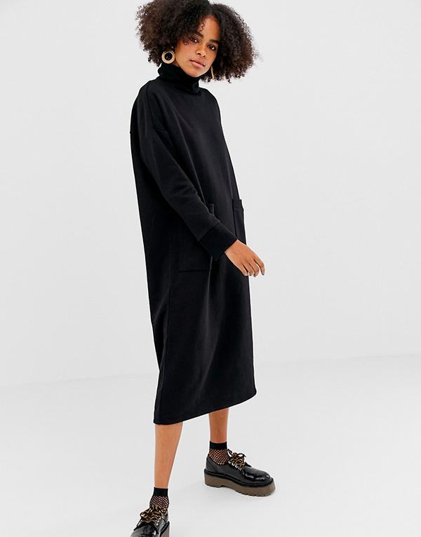 Платье-свитер с чем носить
