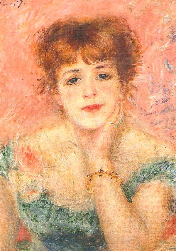 Огюст Ренуар, «Портрет актрисы Жанны Самари», 1877 г.