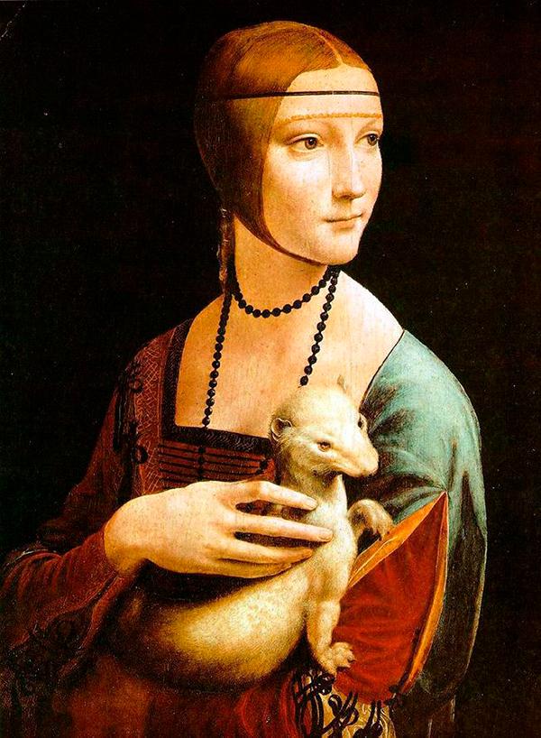 Леонардо да Винчи, «Дама с горностаем», 1489-1490 гг.