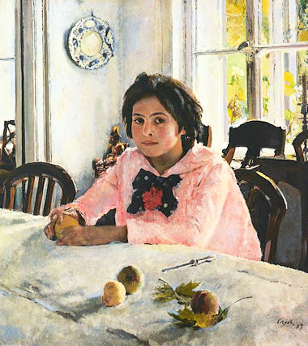 В.А. Серов, «Девочка с персиками», 1887 г.
