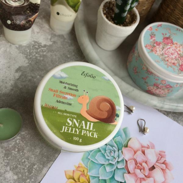 лучшие корейские маски Esfolio snail jelly pack