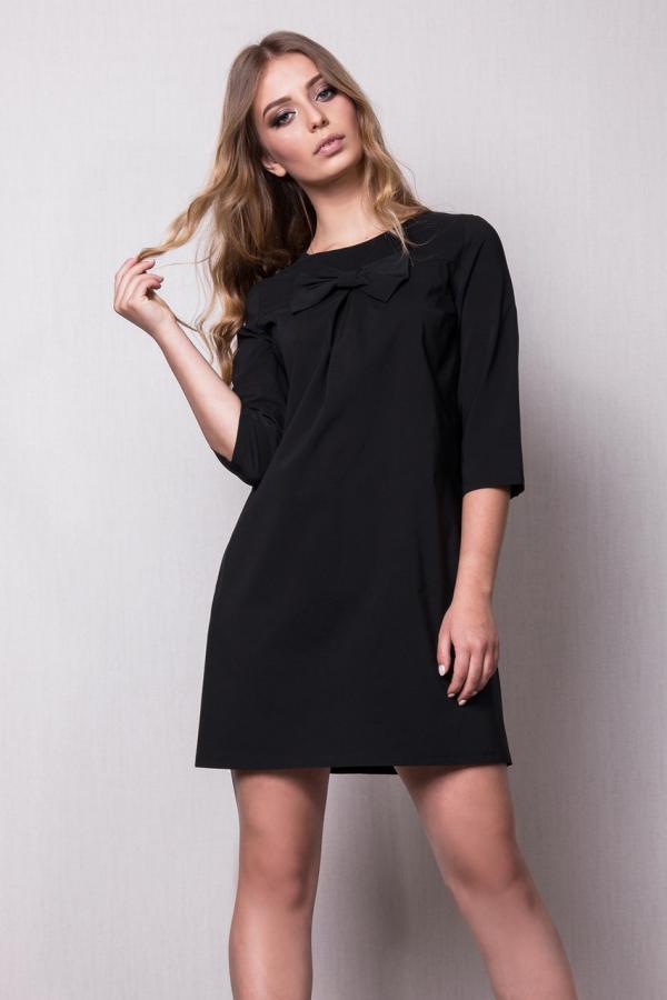 базовый гардероб черное платье