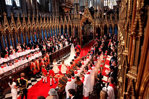 свадьба принца Уильяма и Кейт Миддлтон в Вестминстерском аббатстве