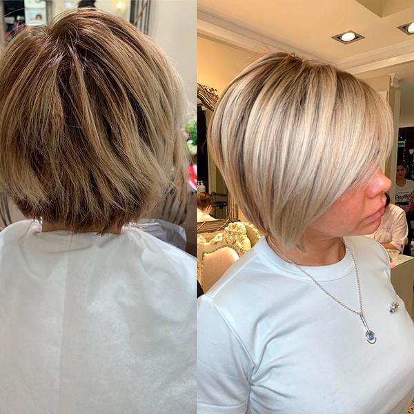 окрашивание 2019 на короткие волосы