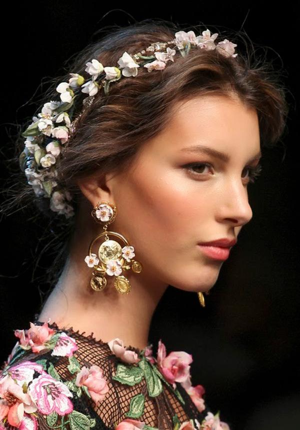 модные украшения в форме цветов
