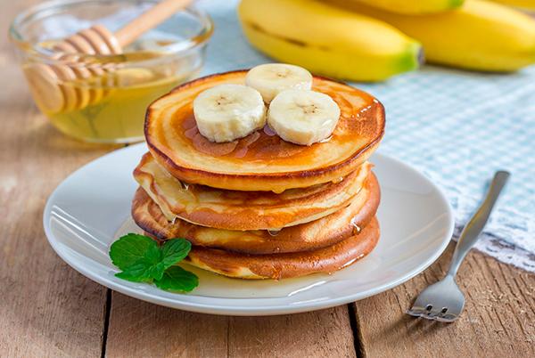 Оладьи с бананом