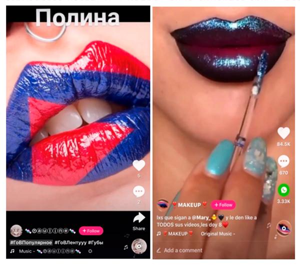 макияж с яркими губами