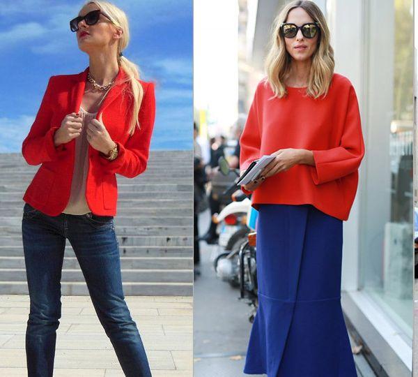 синий и красный