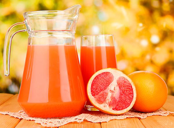 цитрусовый морс из красного грейпфрута