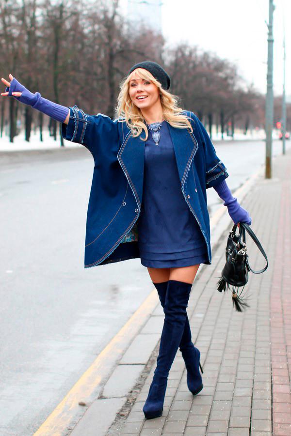 джинсовое пальто Тюльпан