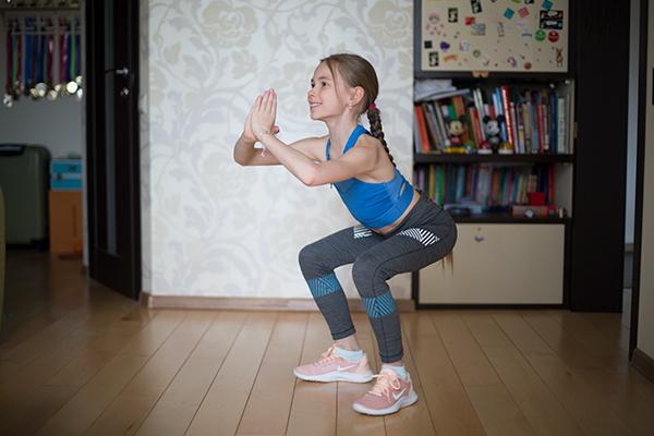 приседания для детей