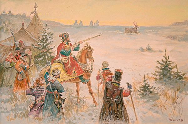 Царь Иоанн Грозный на охоте 1999г