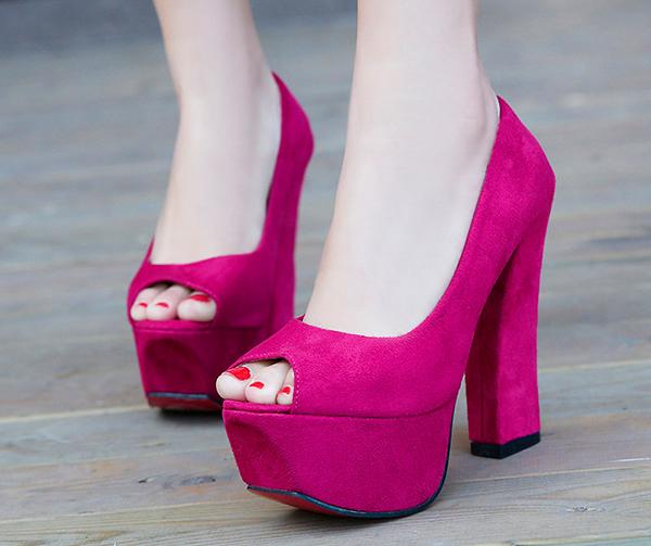 туфли на каблуке с платформой