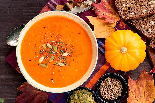 блюда из тыквы - тыквенный крем-суп